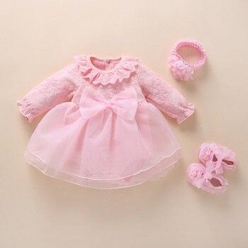 2020 Infant Christening Dress Newborn Baby Girl Clothes&Dresses Cotton Princess 0 3 6 12 Months Baby Baptism Dress crochet christening dress crochet baptism dress
