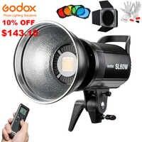 Godox SL60W Led lumière vidéo 5600K 60W CRI 95 + Bowens Mount avec télécommande et BD-04 porte de grange nid d'abeille grille 4 filtres de couleur