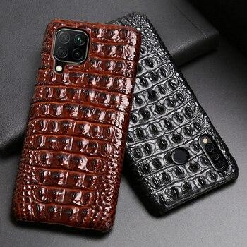Leather Phone Case For Huawei Mate 40 30 20 20X 10 P20 P30 Lite P40 Pro Plus P Smatr Nova 5T Y6 Y9 2019 Crocodile Back Cover