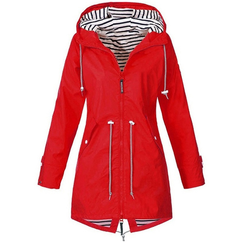 H94bf9c99fee549bfa180d165ceaed5e0n Women Jacket Coat Waterproof Windproof Transition Hooded Jackets Outdoor Hiking Clothes Outerwear Women's Lightweight Raincoat