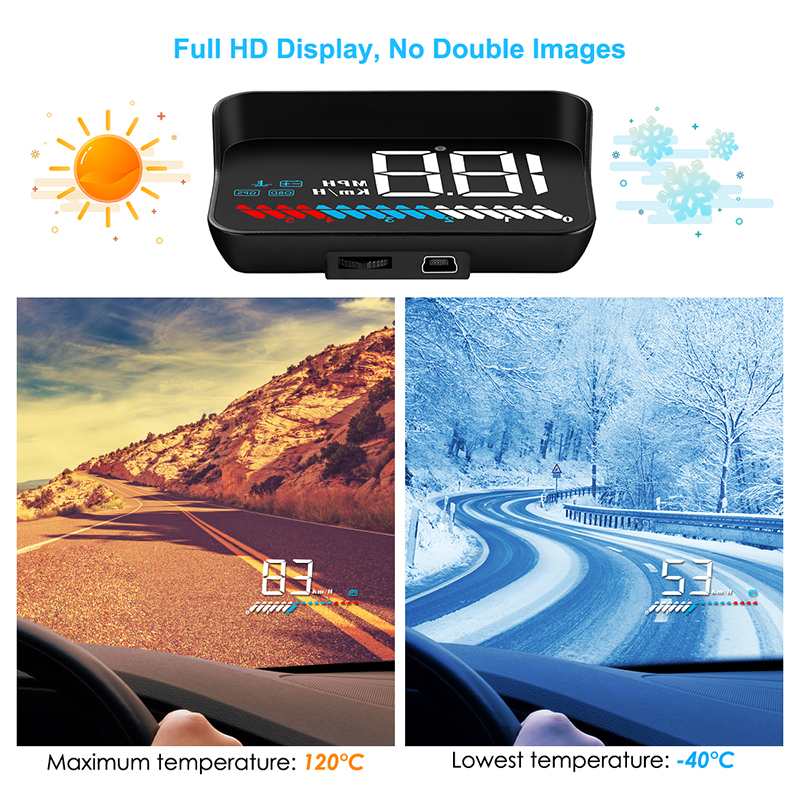 M7 HUD Display Car Head Up Electronic Display OBD GPS automobile Onboard Speedometer Windshield Projector Hood Computer Vehicles Pakistan