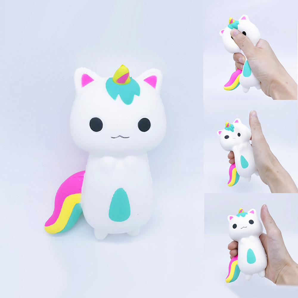 Rainbow Fox Scented Charm Slow Rising Squeeze Stress Reliever Toy Kids Toys  Squishy Toys Juguetes De Descompresion