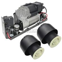 AP03 Air Suspension Compressor Pump With Valve Block + 2*Air Spring For BMW 5 7 Series F01 F02 F04 F07 GT F11 37206784137