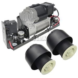 Image 1 - Bomba do compressor da suspensão do ar ap03 com bloco de válvula + 2 * mola de ar para bmw série 5 7 f01 f02 f04 f07 gt f11 37206784137