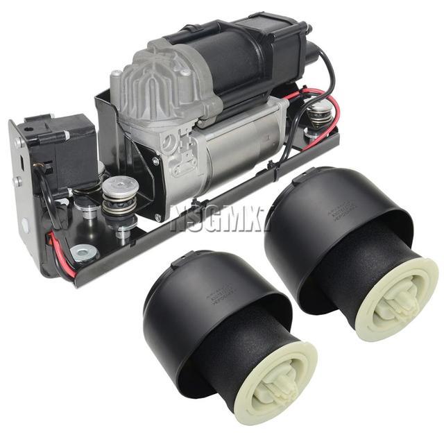 Bomba do compressor da suspensão do ar ap03 com bloco de válvula + 2 * mola de ar para bmw série 5 7 f01 f02 f04 f07 gt f11 37206784137