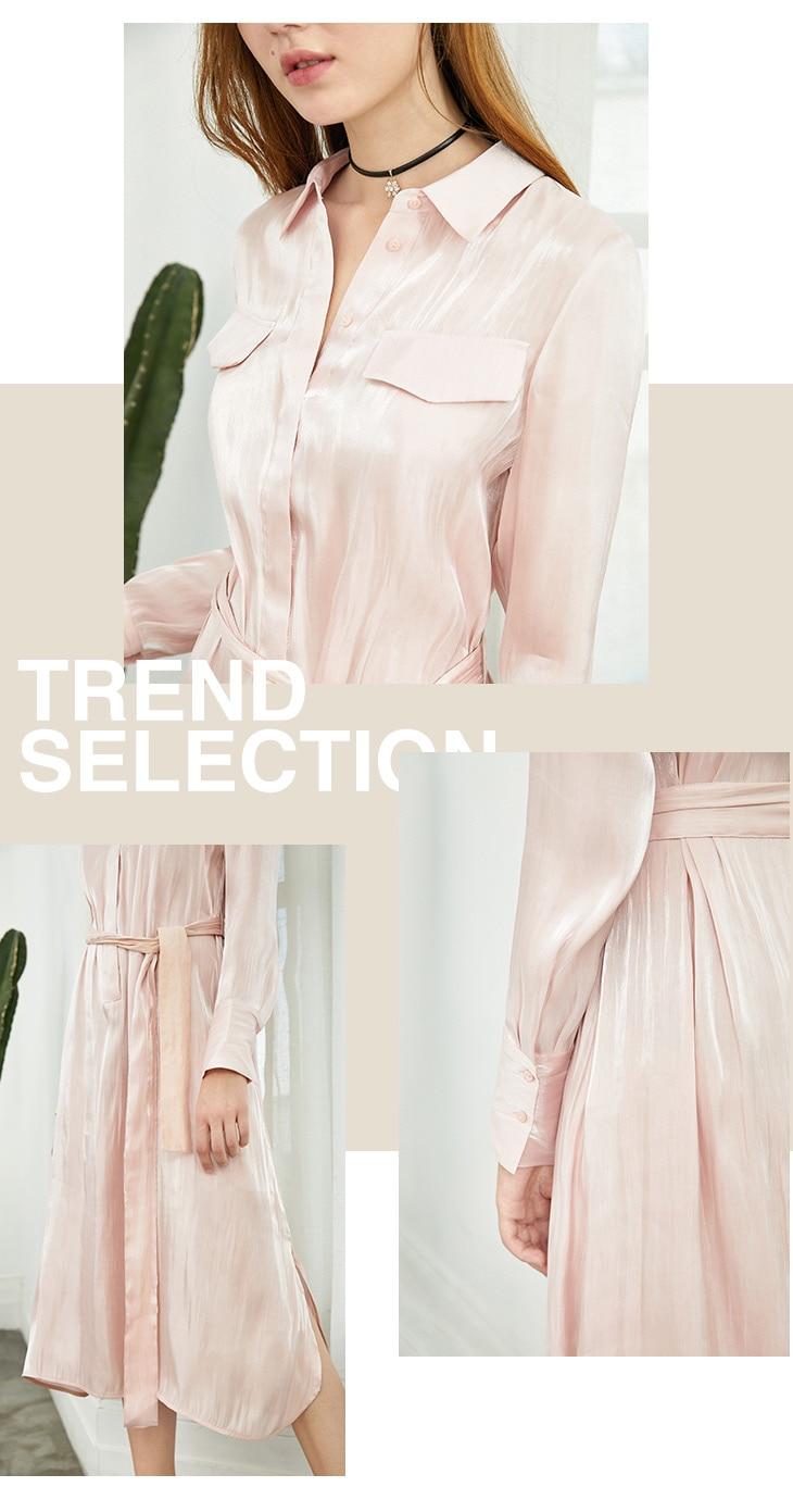 ONLY 19 Autumn Glossy Shirt Dress | 119307623 13