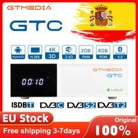 DVB-S2 T2 GTmedia GTC 4K UHD Android TV BOX Kabel Satellite Empfänger Gebaut-in Wifi 2,4G + BT 4,0 H.265 m3u Decoder Zubehör Spot