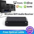 WR320 Беспроводной Wi-Fi аудио приемник для Airplay Spotify DLNA NAS мультирум звуковой поток адаптер Bluetooth Музыка Аудио адаптер