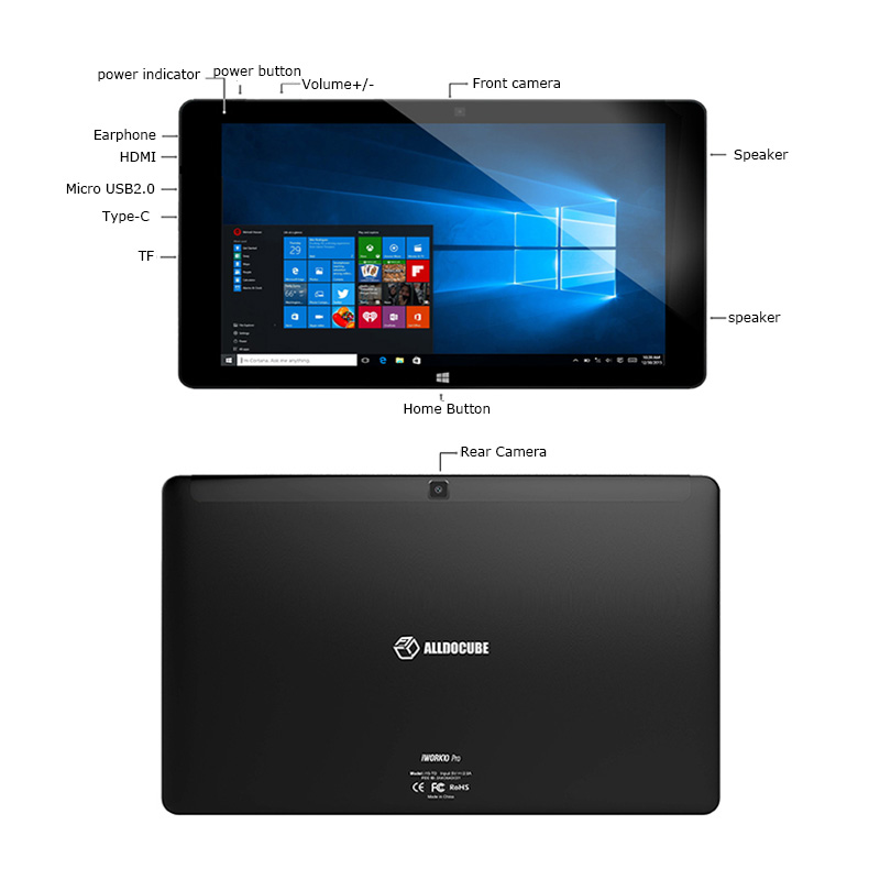 Image 3 - Alldocube iWork10 pro Tablet 10.1 inch  Intel Cherry Trail Windows10 Android 5.1 Dual System RAM 4GB+ROM 64GB 1920*1200 IPS wifiTablets   -
