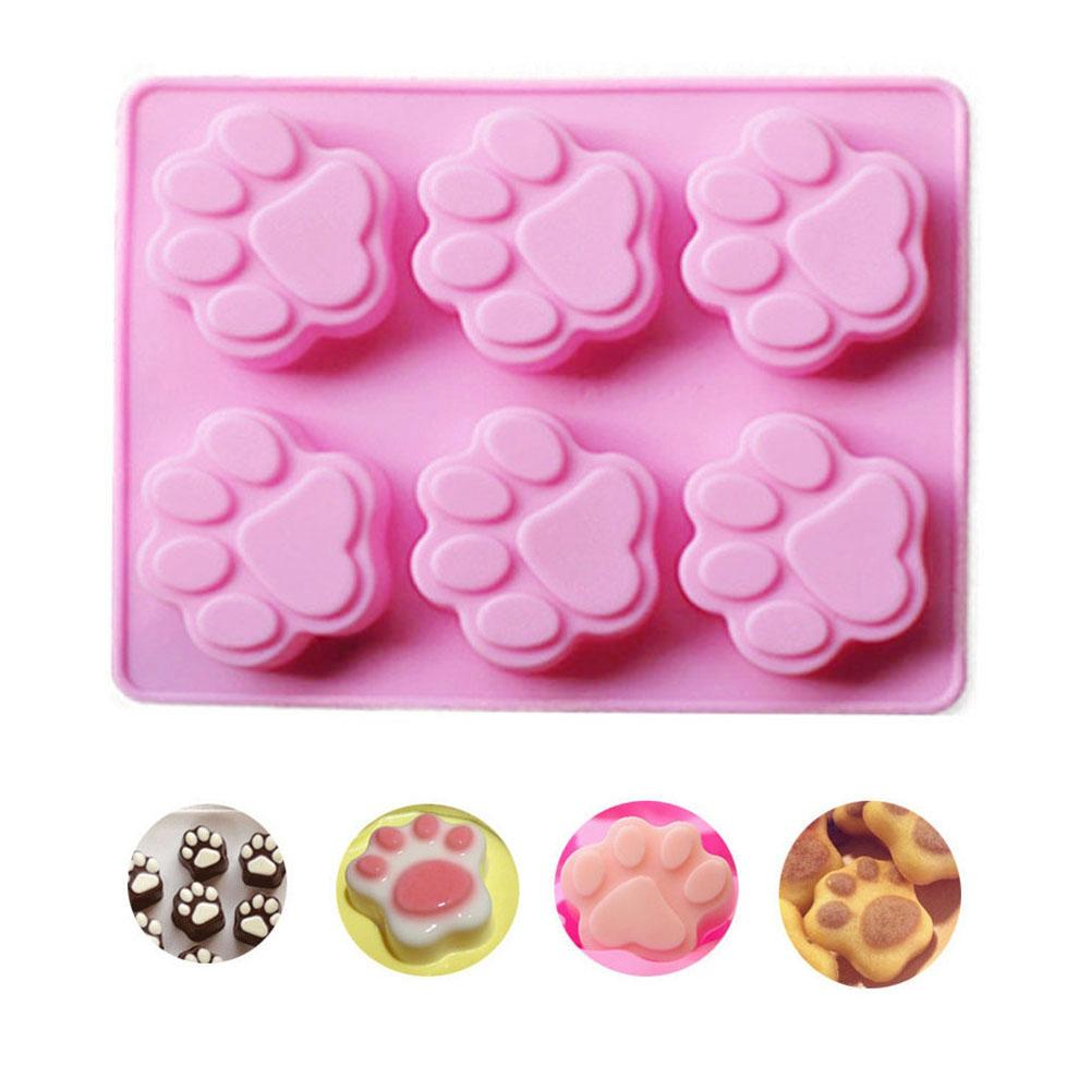 DIY Cat Feet Silicone Baking-Mold Handmade Soap Chocolate Fondant Mold Cakes Crafts Molds Cake-Decoration Tools