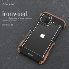 Phone Case For iPhone 11 Pro Max Original R Just Wood Bumper Metal Case For iPhone 11 Aluminum Frame Phone Cases Accessories