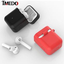 IMIDO Silicone Case For Xiaomi Airdots Pro Air true Wireless Bluetooth Earphone Shockproof Bags for Mi Charging Box
