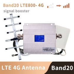 Band 20 4G Versterker 800 Mhz Fdd Europa Mobiele Telefoon Signaal Booster Mobiele Telefoon Versterker 4G Lte 800 mhz Repeater Set B20