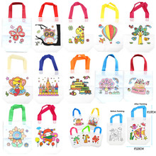 10Pcs Antistress Puzzles Educational Toy for Children DIY Eco-friendly Graffiti Bag Kindergarten Hand Painting Materials