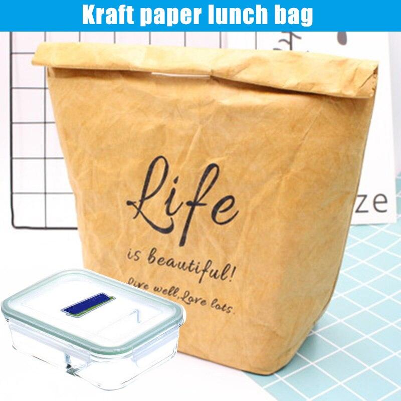 Bolsas de Almoço de Papel Bolsa de Supermercado de Filme de Alumínio Venda Quente Kraft Reutilizável Isolado Lavável-b5