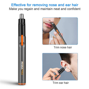 USB Перезаряжаемый триммер для волос в носу, безболезненный триммер, быстрая зарядка, бесшумный беспроводной электрический триммер для воло...