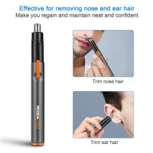 USB Rechargeable Nose Hair Trimmer Painless Trimming Fast Ch
