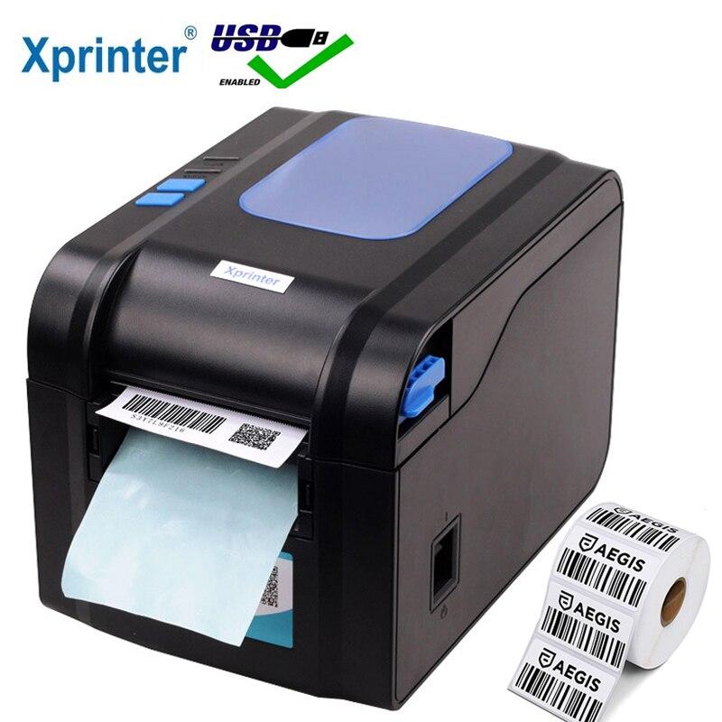 Xprinter étiquette Code à barres imprimante thermique reçu étiquette imprimante Code à barres QR Code autocollant Machine 20mm-80mm avec décapage automatique