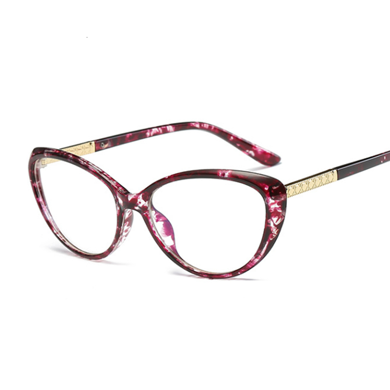 Cat Eye Glasses Frame Women 2019 Fashion Clear Glasses Lens Myopia Optical Glasses For Computer Frame Oculos Feminino