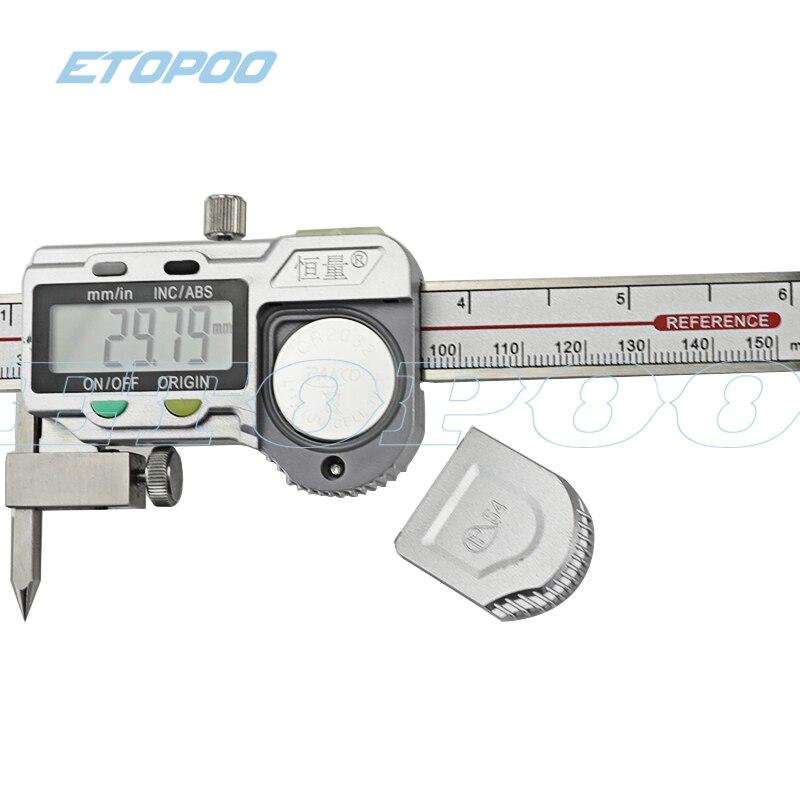 5-150 мм осевая линия цифровые Штангенциркули с коническими точками электронный цифровой центр дистанционный суппорт 5-150 мм