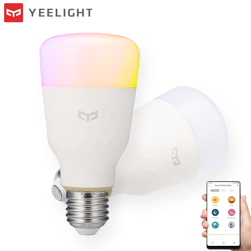 Yeelight YLDP06YL E26 E27 10W RGBW Smart ControlLED Bulb Work With AC100-240V for Desk Night Light Lamp image
