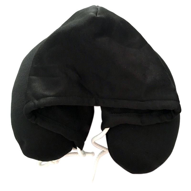 4 Colors New Hooded U-Shape Travel Head,Neck Pillow for Airplane Outdoor Portable Pillows Sleep Cushion Comfortable Support image