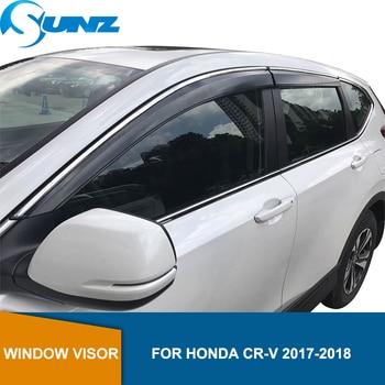 цена на Window Deflector Visor For Honda Crv 2017 2018 2019 Car Window Rain Protector Side Window Deflectors Rain Sun Guard Vent SUNZ