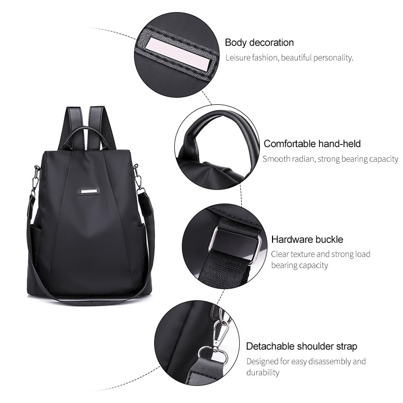 H94c17e8631ba423ba8856210fb6becc13 - Women Fashion Backpack Oxford Multifunction Bags Female Anti-theft Casual Backpacks Girl's Elegant Mochila For School Work
