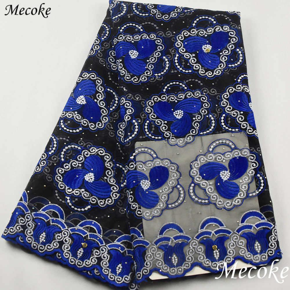 2019 son mor nijeryalı danteller kumaşlar yüksek kalite kraliyet mavi tül afrika dantel kumaş düğün afrika fransız tül dantel