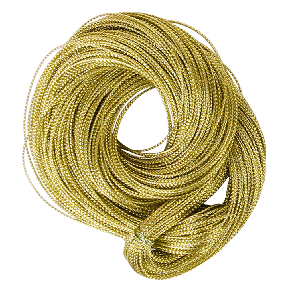 Durable Thread String Jewelry Craft Cord Multifunctional Golden String Metallic Jewelry Cord Card Braid DIY Necklace Bracelet
