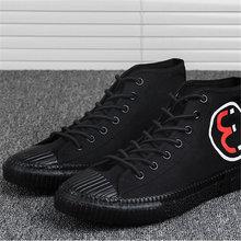 Парусиновые высокие кроссовки мужская Брендовая обувь для мужчин