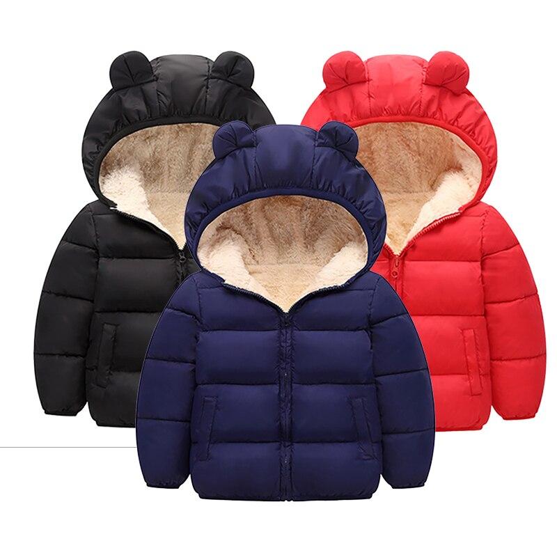 Куртка для маленьких девочек, Осень-зима 2020, куртка для девочек, пальто, детская теплая верхняя одежда с капюшоном, пальто для мальчиков, кур...