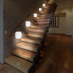 Image 5 - Aimkeeg LED Sensor Night Light PIR Infrared Motion Activated Sensor Lamp Battery Powered Wall Lamp Cabinet Stairs Light
