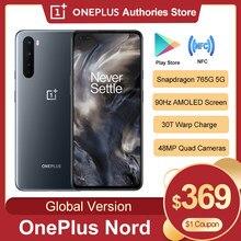 Versão global original oneplus nord 5g snapdragon 765g smartphone 8gb 128gb 6.44 90 90hz amoled tela 48mp quad telefone móvel