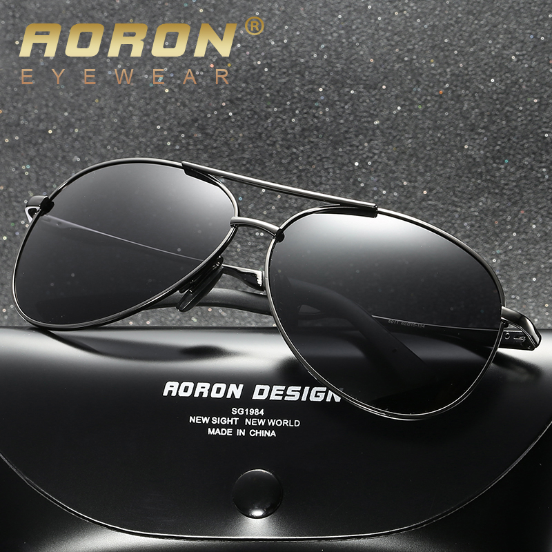AORON Mens Retro Vintage Metal Polarized Pilot Sunglasses Driving Eyewear New