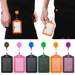 High quality 620 horizontal of Vertical card sleeve Credit Card Badge Holder lanyards nurse name tag id badge holder card holder