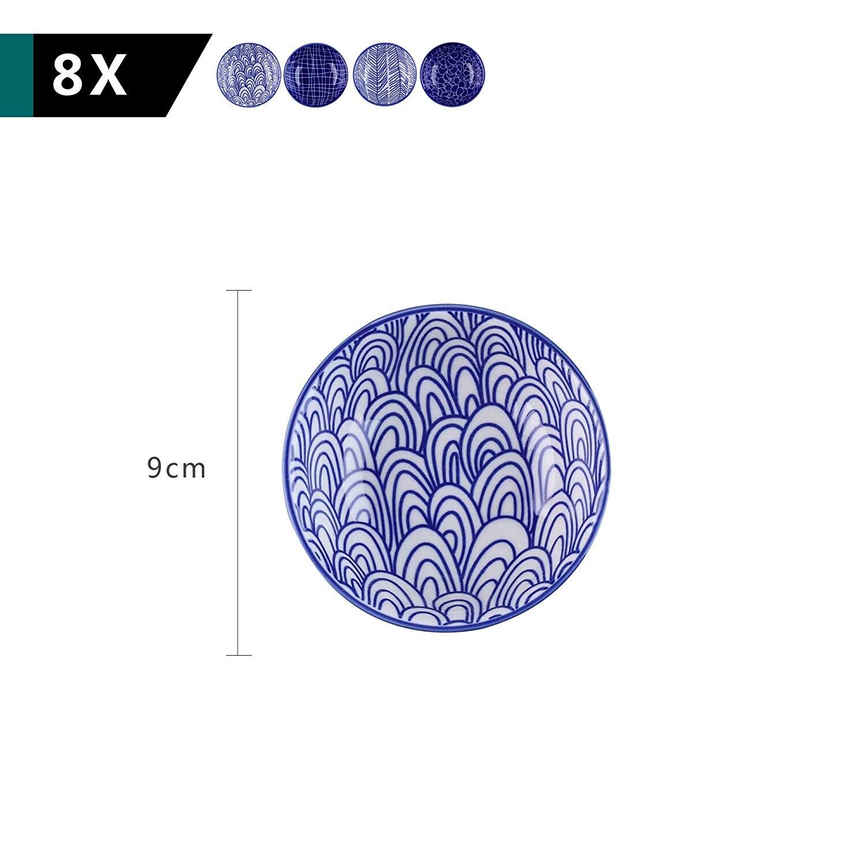 Vancasso TAKAKI 8/16/24 pièces | Porcelaine de Style japonais, Sauce tomate, trempette d'assiettes 8.8*8.8x2.8cm 4 pièces - 2