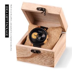 Image 5 - BOBO BIRD Two Time Zone Display Wood Watch Men Relogio Masculino Luxury Wristwatch Women Anniversary Grooms Gift Wooden Box R10