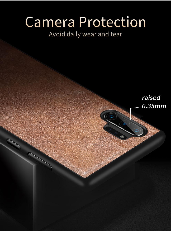 H94c21b68cb3c41de866a30952aa1b823j X-Level Leather Case For Samsung Note 10 Plus Soft Silicone Edge Back Phone Cover For Samsung Galaxy Note 10 Case Note10 Plus