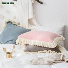 Чжо МО 45*45 см кружева спальная кровать наволочка для дома розовый 3 цвета-релиз подушка крышка подушка гостиной