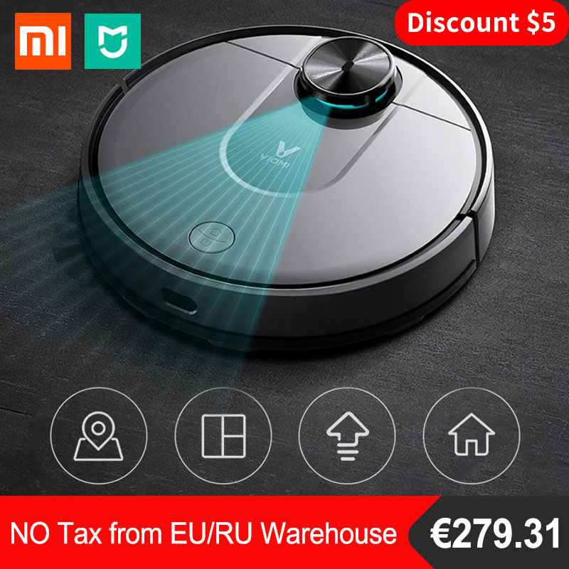 2019 Original Xiaomi Viomi V2 Robot Vacuum Cleaner For Home Automatic Sweeping Dust Collector Mi Home