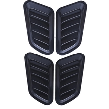 цена на 1 Pair Universal Car Sticker ABS Decorative Air Flow Intake Bonnet Vent Cover Hood