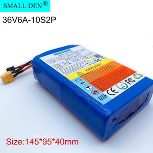 Batería de iones de litio 10S2P 36V 6Ah 18650 para scooter Eléctrico ebike XT60 SM 2P 450W portátil ultrafino