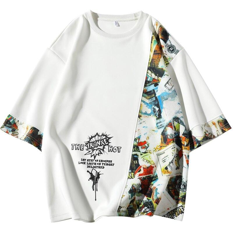 Short Sleeve T Shirt Men 2020 Summer Loose Tshirt Top Tees Hip Hop Punk Rock Fashion Clothes Plus Size M 4xl 5xl O Neck Retail11