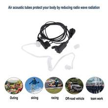 ALLOYESSD M-Type Plug 2 Pin In-ear Earphone Air Tube Mic Earpiece Radiation Protection Headset For Motorola GP300 Two Way Radios(China)