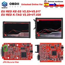 En ligne ue rouge KESS complet 2020 KTAG V5.017 V2.53 5.017 Kit de réglage de puce principale 2.25 KTAG V7.020 V2.25 programmeur de clé ECU de voiture automatique
