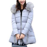 Lisa Colly Plus Size 7XL Girl Winter Women's Parka Hooded Warm Jacket New Fashion Womens Long Thin Jacket