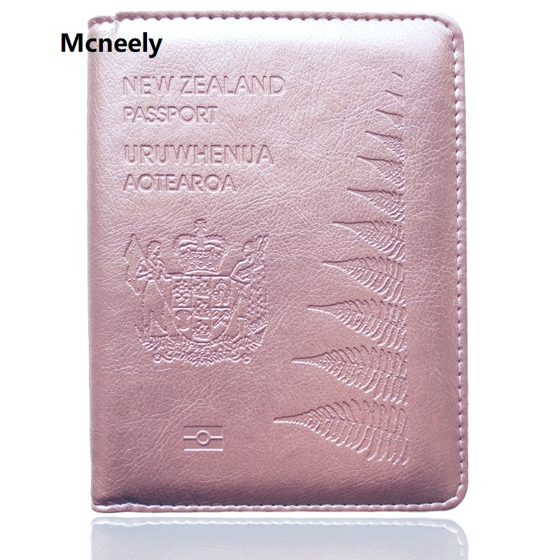 High Quality New Zealand Travel Passport Cover Leather Protector Passport Holder Case For Business Credit Card Holder Case