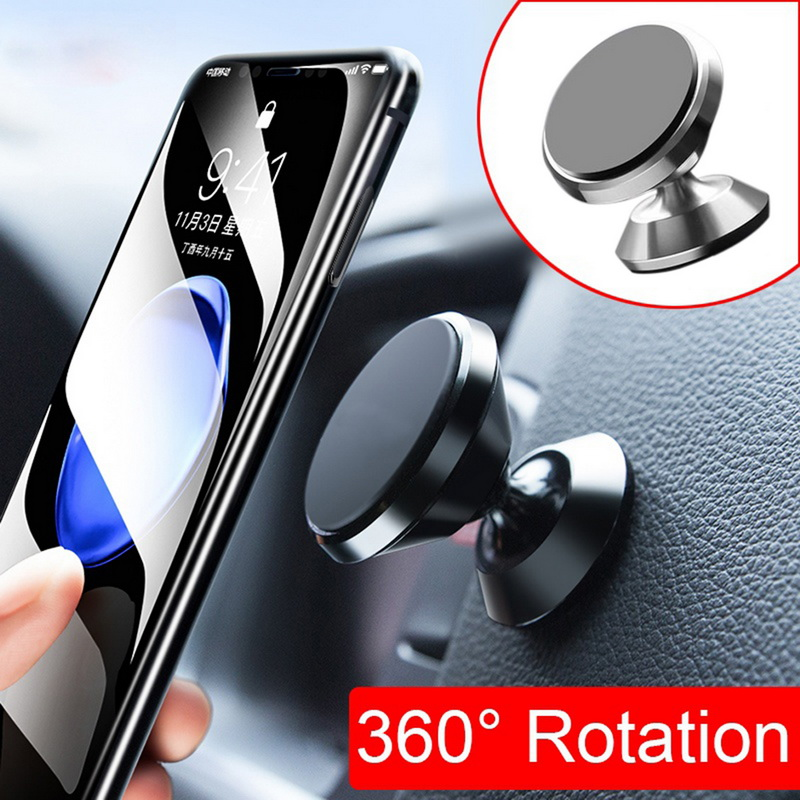 360 Degree Car Magnetic Mobile Phone Holder Mount Magnet Car Air  Mobile Phone Holder  360 Degree Stand Holder