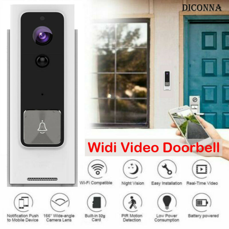 WiFi Wireless Video Doorbell Two-Way Talk Real Time Smart Visual Door Bell Home Security Camera Connect Mobile Phone App